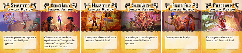 Bone Strike Lokaloka action cards