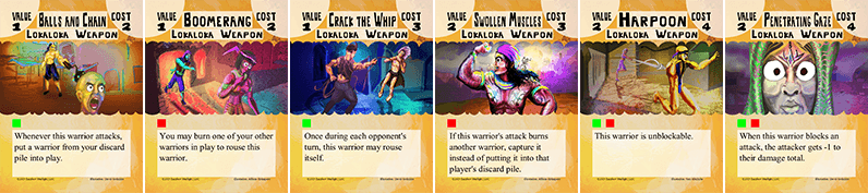 Bone Strike Lokaloka weapon cards