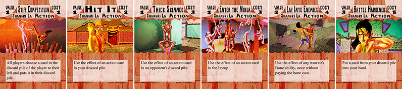 Bone Strike Shangri La action cards