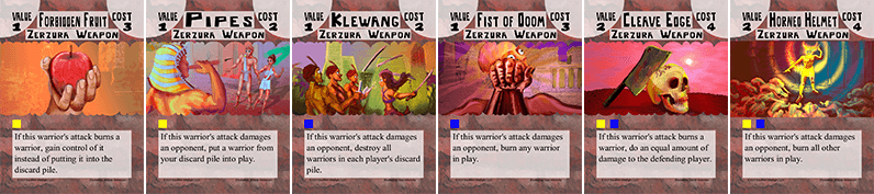 Bone Strike Zerzura weapon cards